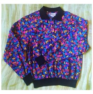 80s Vintage Notations Top